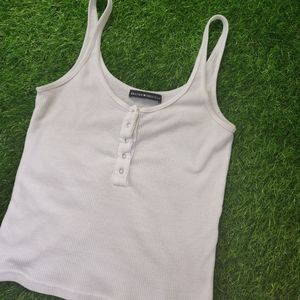 3/$20 BRANDY MELVILLE BUTTON RIBBED CROP TOP